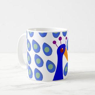 孔雀のコーヒー・マグ コーヒーマグカップ