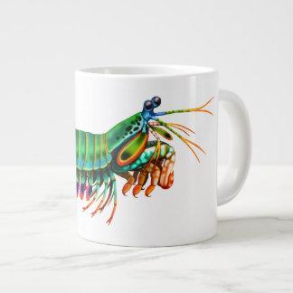 孔雀のシャコ目礁の動物の専門のマグ ジャンボコーヒーマグカップ