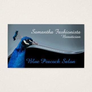 孔雀のスパの美容院の青 名刺