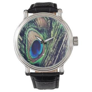 孔雀のタイムキーパー 腕時計