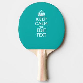 孔雀のターコイズの平静そしてあなたの文字を保って下さい 卓球ラケット