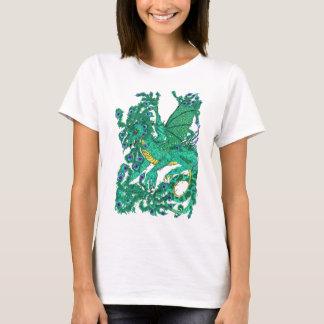 孔雀のドラゴン Tシャツ