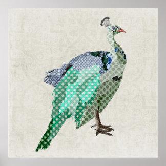 孔雀のバックラム ポスター