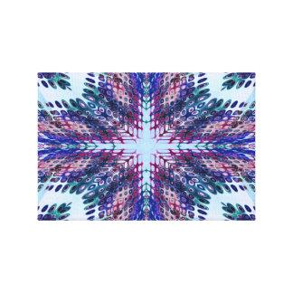 孔雀のフラクタルのイメージ キャンバスプリント