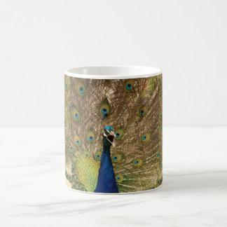 孔雀のマグ コーヒーマグカップ