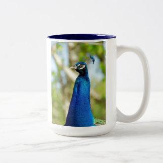 孔雀のマグ ツートーンマグカップ