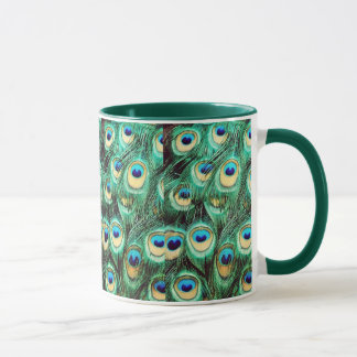 孔雀のマグ マグカップ