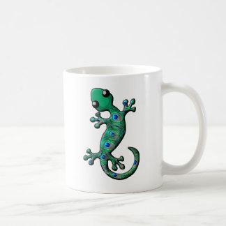 孔雀のヤモリ コーヒーマグカップ
