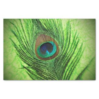 孔雀のライムグリーン 薄葉紙