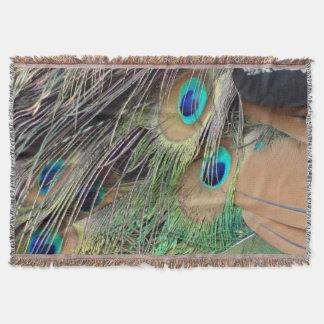孔雀の側面の羽 スローブランケット