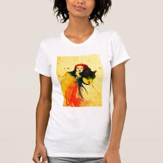 孔雀の女の子のワイシャツ Tシャツ