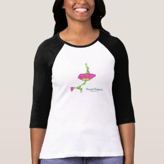 (孔雀の姿勢II)の女性の3/4枚の袖のワイシャツ Tシャツ