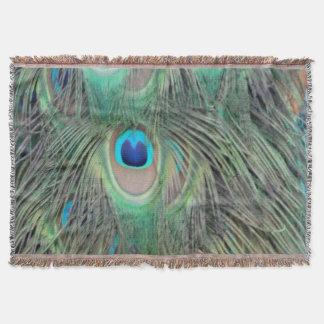 孔雀の尾羽の大きい目 スローブランケット