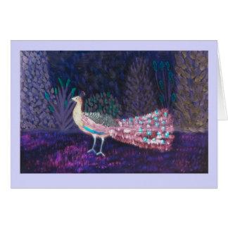 孔雀の庭のデジタル芸術 グリーティングカード