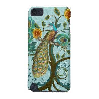 孔雀の木の鳥かごのダマスク織のiTouchの場合 iPod Touch 5G ケース