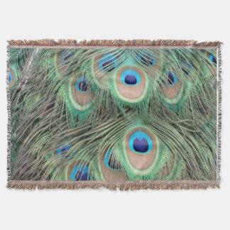 孔雀の目の広いSpreed スローブランケット