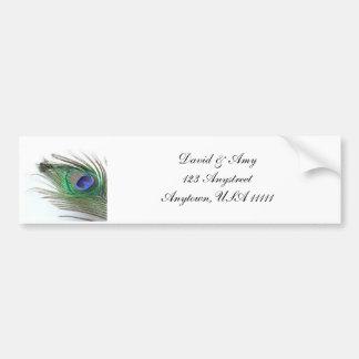 孔雀の結婚式 バンパーステッカー