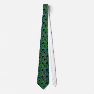 孔雀の羽のタイ-緑のティール(緑がかった色)の水のターコイズ ネックウェアー