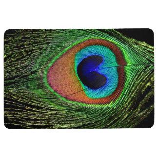 孔雀の羽のフロアマット フロアマット