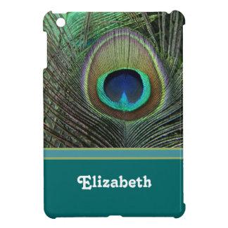 孔雀の羽の名前入りなiPad Miniケース iPad Mini カバー