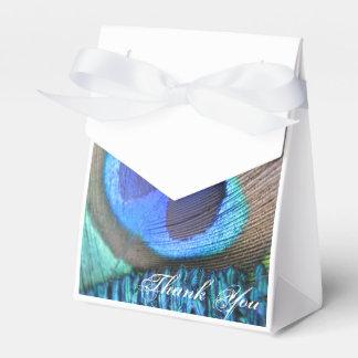 孔雀の羽の好意のバッグ フェイバーボックス
