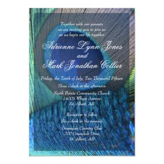 孔雀の羽の招待状 カード