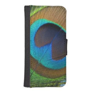孔雀の羽の携帯電話の箱か財布 iPhoneSE/5/5sウォレットケース