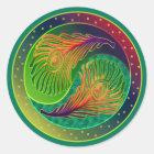 孔雀の羽の陰陽3 ラウンドシール