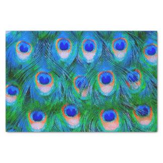 孔雀の羽の青 薄葉紙