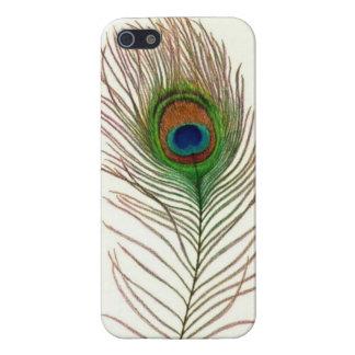 孔雀の羽のiPhoneの場合 iPhone 5 Case