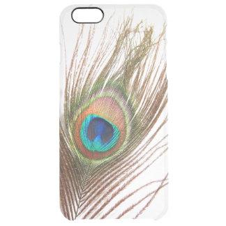 孔雀の羽のiPhone 6のプラスの澄んな場合