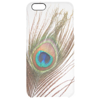 孔雀の羽のiPhone 6のプラスの澄んな場合 クリア iPhone 6 Plusケース