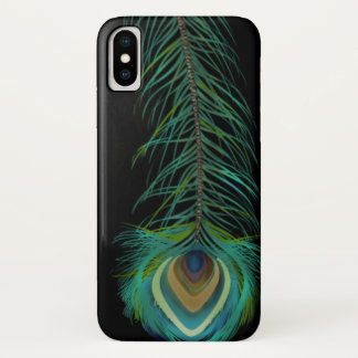 孔雀の羽背景色を選びます iPhone X ケース