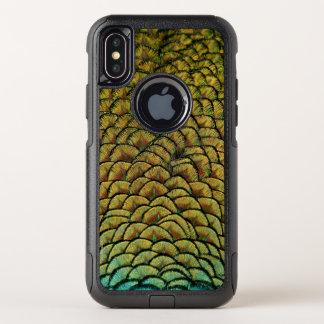 孔雀の羽 オッターボックスコミューターiPhone X ケース