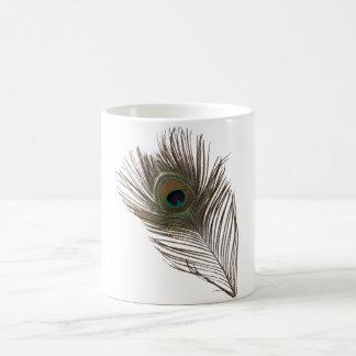 孔雀の羽 コーヒーマグカップ