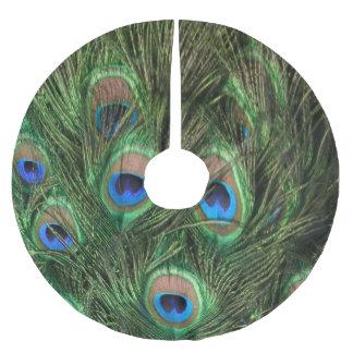 孔雀の羽 ブラッシュドポリエステルツリースカート
