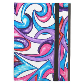 孔雀の羽-抽象美術 iPad AIRケース