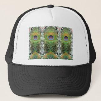孔雀の羽-魚によって形づけられるデジタル キャップ