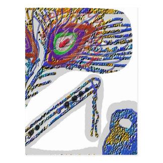 孔雀の羽: Gopal Krishna ポストカード