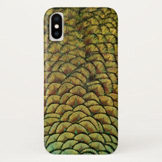 孔雀の羽 iPhone X ケース