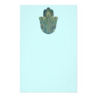孔雀の羽Hamsa 便箋