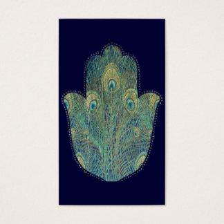 孔雀の羽Hamsa 名刺
