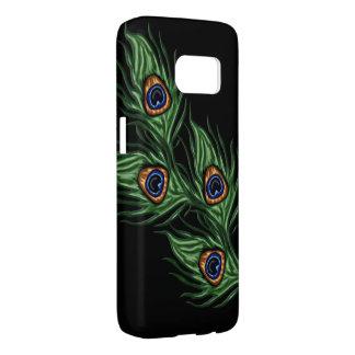 孔雀の羽Samsungは包装します Samsung Galaxy S7 ケース