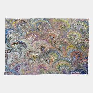 孔雀の花束 お手拭タオル