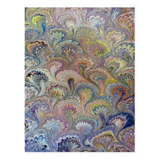 孔雀の花束 ポストカード
