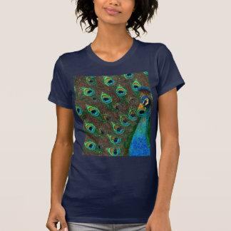 孔雀の芸術のTシャツ Tシャツ