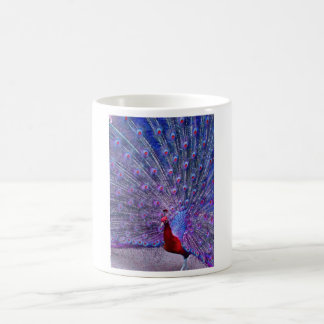 孔雀の赤 コーヒーマグカップ