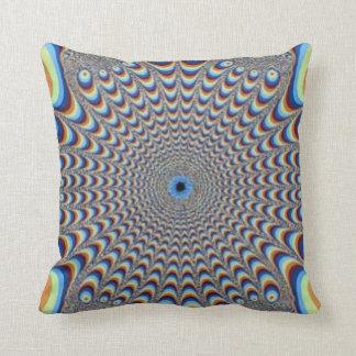 孔雀の錯覚の抽象芸術の枕 クッション