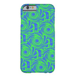 孔雀の青緑パターン BARELY THERE iPhone 6 ケース