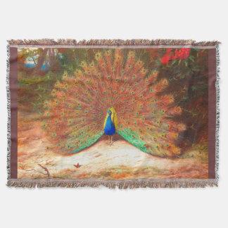 孔雀の鳥のブランケット 毛布